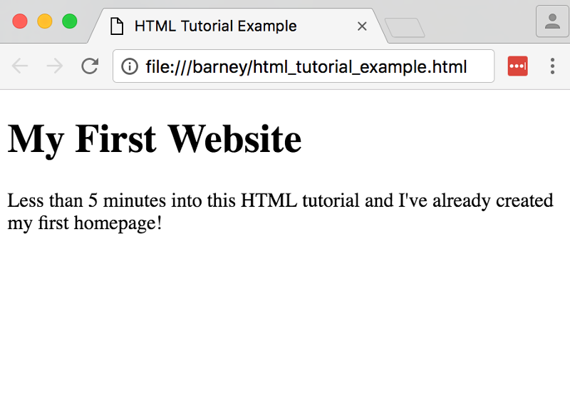 Screenshot of selecting a new page from an HTML editor.