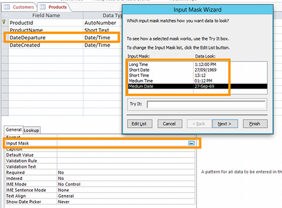 How to create a table in design view in access for Table design view access