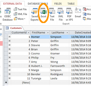 export access data to excel template - export access 2013 database to excel