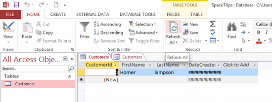 Create a Form in Microsoft Access 2013