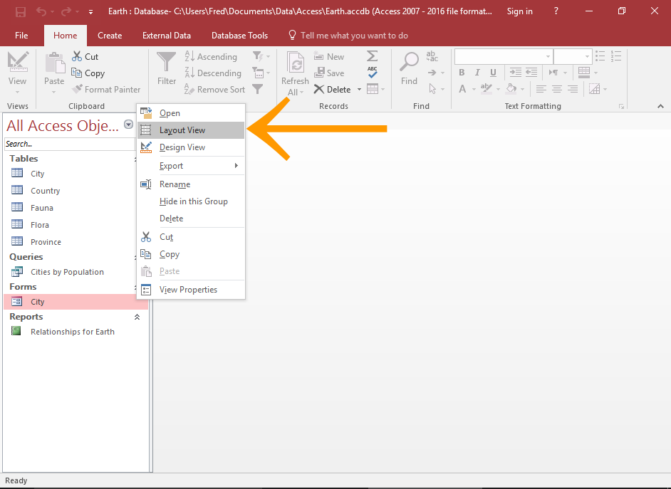 How to add a lookup control to a form in access 2016 for Table design view in access 2010
