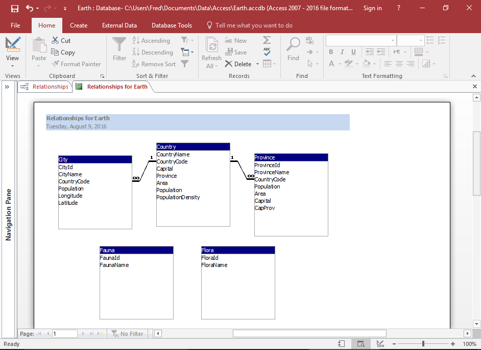 How to Create a Database Diagram in Access