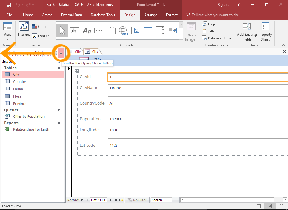 How to Create a Form from a Table in Access 2016