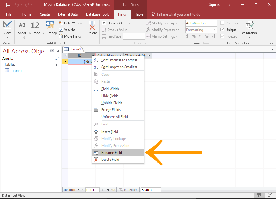 Create A New Query In Query Design View