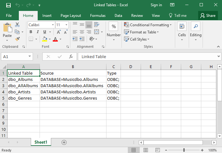 Screenshot of the Excel file