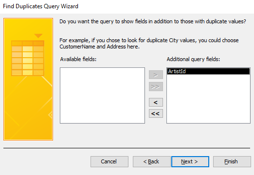 Screenshot of the Query Wizard.