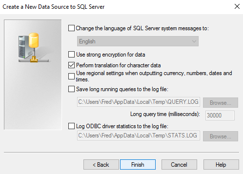 Screenshot of Extra Options