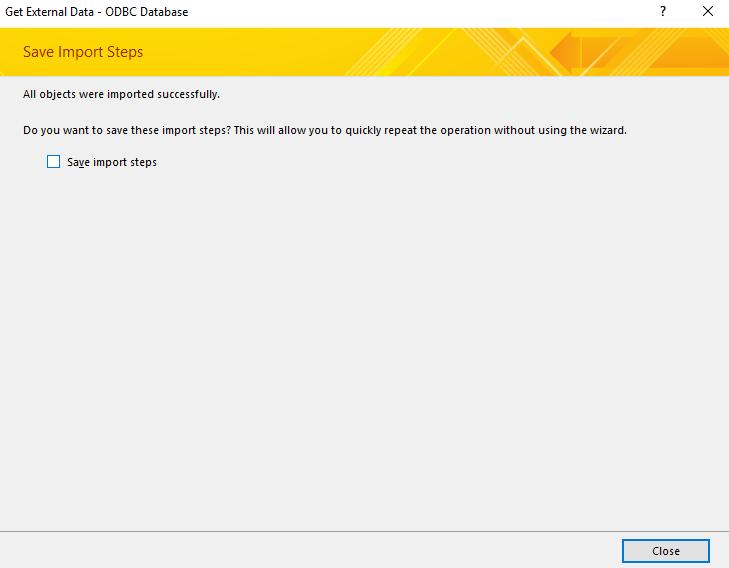 Screenshot of Select Unique Identifier dialog box