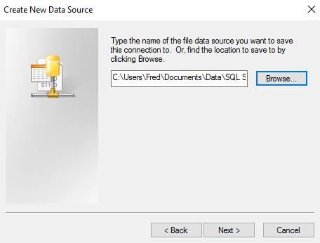 Screenshot of naming the new data source