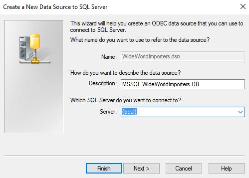 Screenshot of creating a new data source