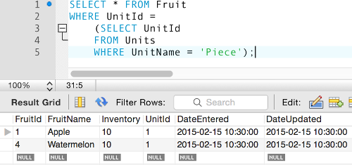 How to create table from select query in mysql