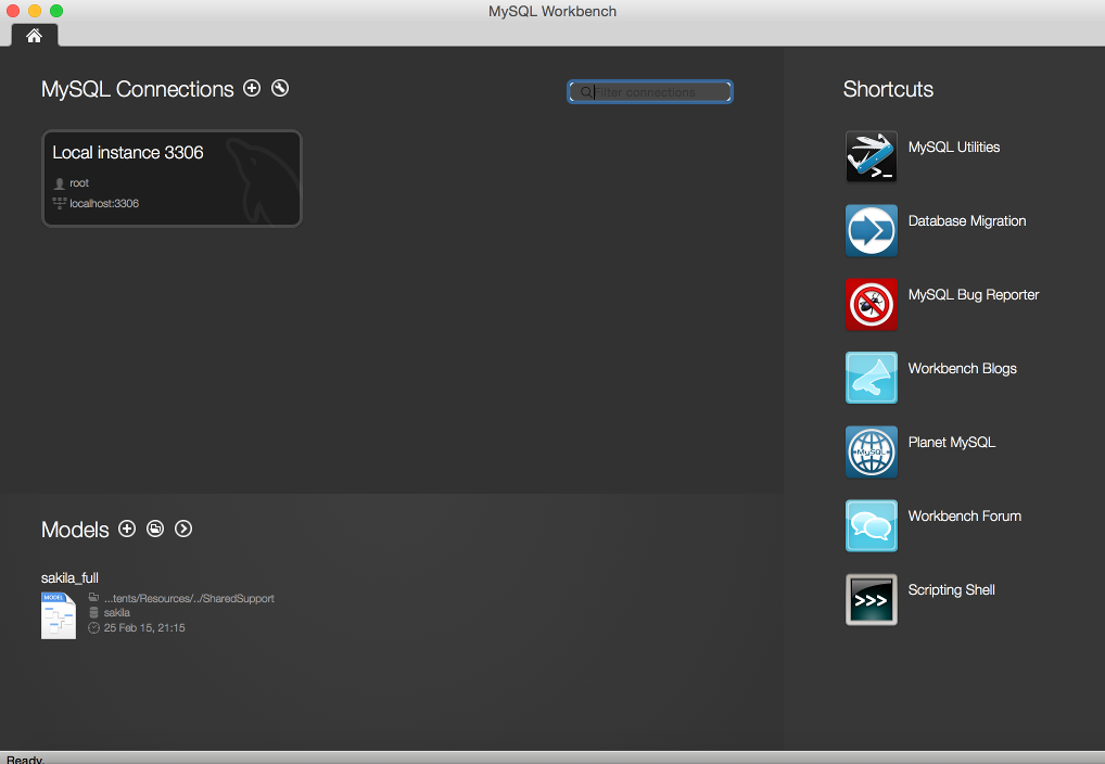 Screenshot of MySQL Workbench