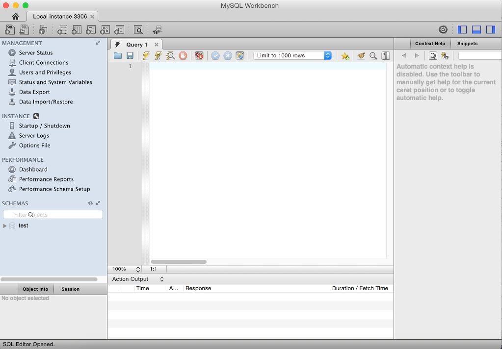 how to create database using mysql workbench