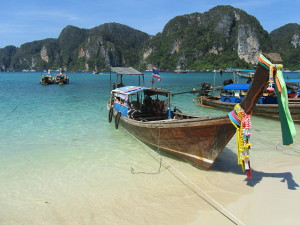 Longtail boats at Phi Phi