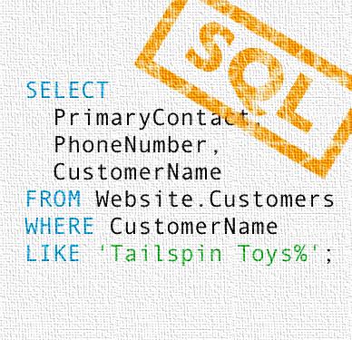 Screenshot of SQL code