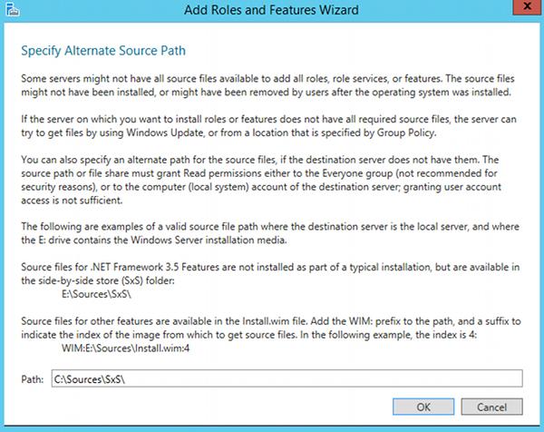 Install .NET 3.5 - step 9