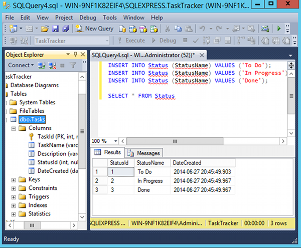 How to write insert query in sql server