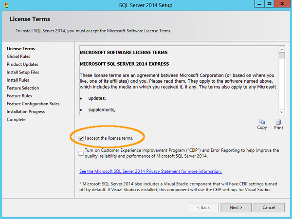 Cài đặt SQL Server 2014 - bước 5
