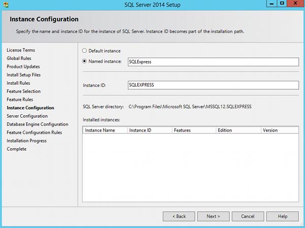 Install SQL Server 2014 - step 8