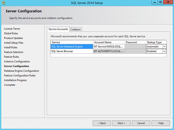 Install SQL Server 2014 - step 9
