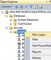Creating a new login in SQL Server