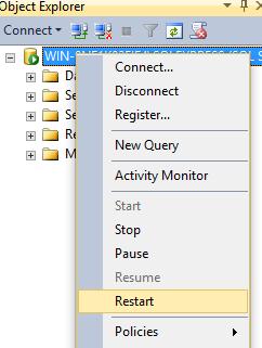 Restarting SQL Server