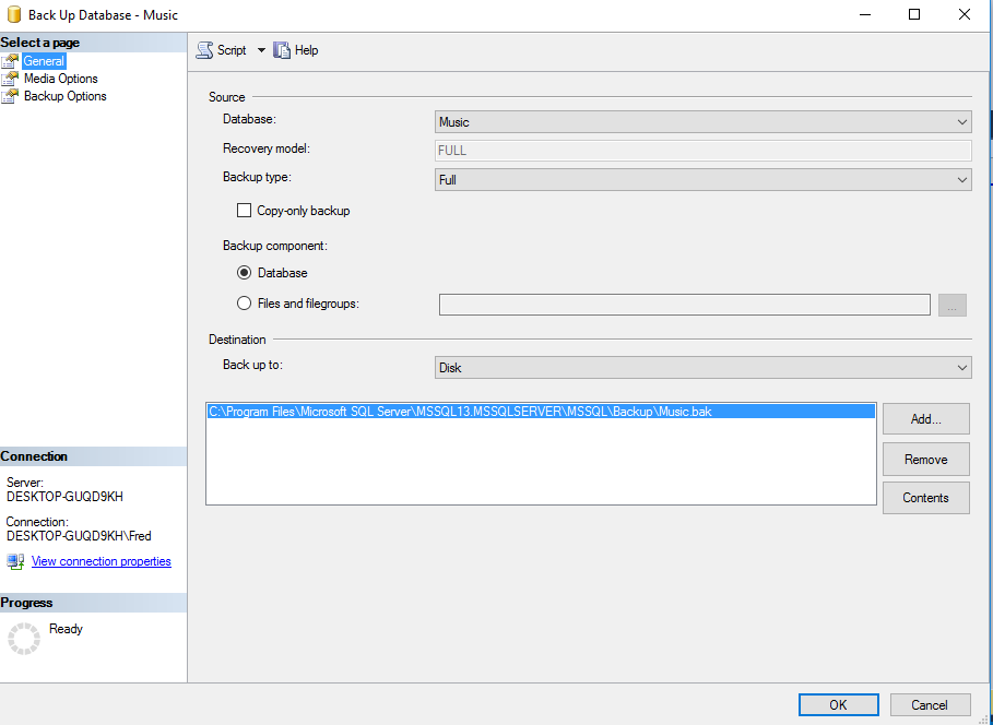 how to create database in sql server
