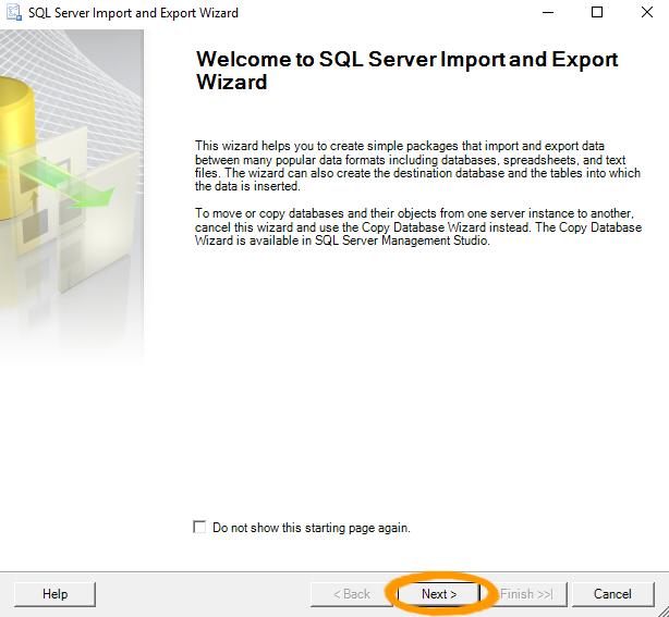 SQL Server 2016: Import Data