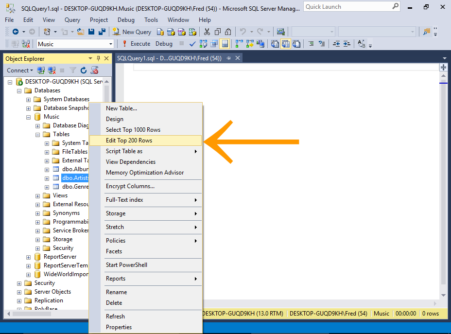 Sql server 2016 insert data - How to find a table in sql server management studio ...