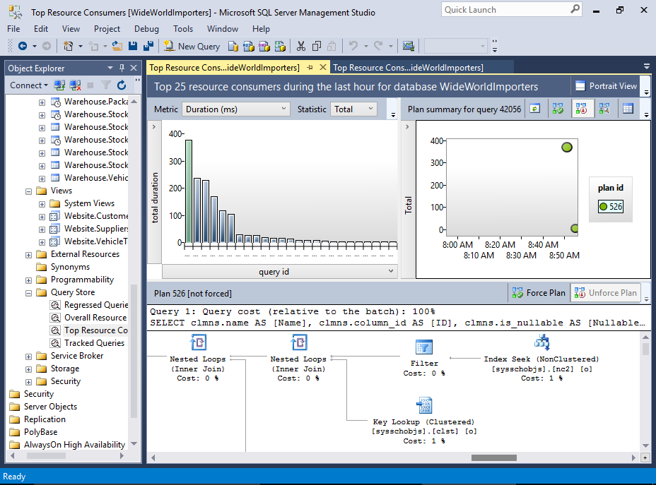 Screenshot of SQL Server 2016.
